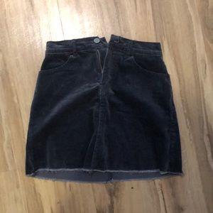Corduroy rusty blue skirt